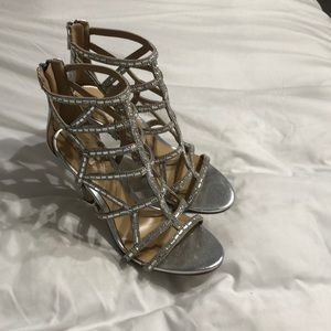 Aldo Shoes - Size 7 open toe silver heels